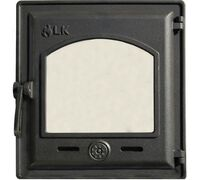 Дверца топочная герметичная со стеклом 370 - LK