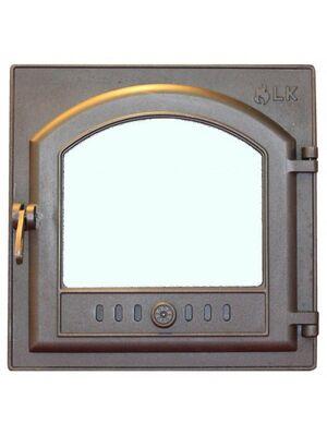 Дверца топочная 305 со стеклом - LK