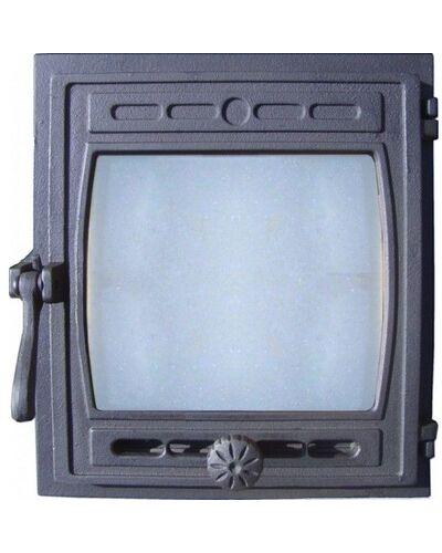 Дверка ДТГ-8С (Р) топочная герметичная 'Кижи' крашенная 290х325 (без стекла)