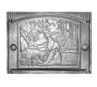 Дверка ДТК-2 (Р) каминная с рисунком крашенная (375х300) (ДК-2)