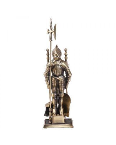 Набор для камина Рыцарь 4 предмета Античная латунь  (LK D50011АB)