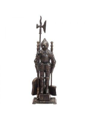 Каминный набор D50011АGК (80х20, рыцарь, 4 предмета, античное золото/черный) - LK