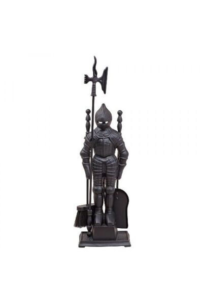 Набор для камина Рыцарь 4 предмета Черный (LK D50011BК)