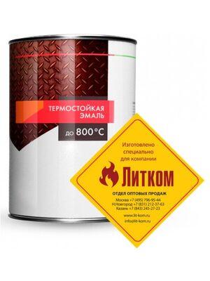 """Эмаль термостойкая серебристая (0,8 кг) """"ELCON"""""""