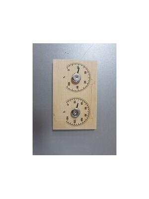 """Термометр для сауны СБО-2тг банная станция+гигрометр """"прямоугольная"""" - LK"""