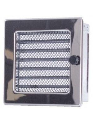 Вентиляционная решетка с жалюзи никель 17х17 мм
