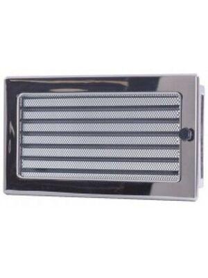Вентиляционная решетка с жалюзи никель 17х30 мм