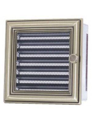 Вентиляционная решетка с жалюзи ретро 17х17 мм