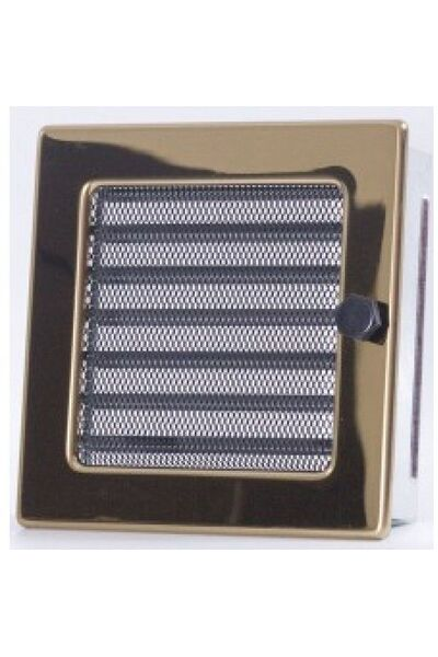 Вентиляционная решетка с жалюзи золото 17х17мм