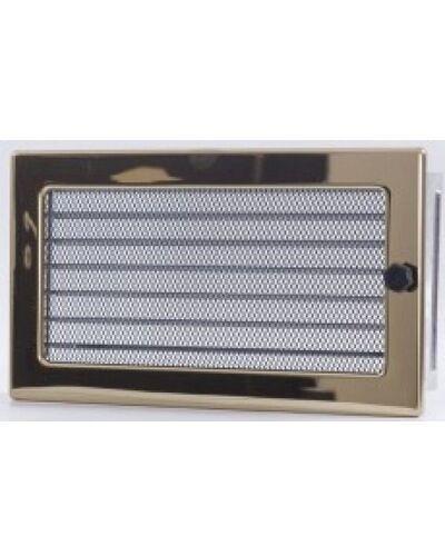 Вентиляционная решетка с жалюзи золото 17х30 мм