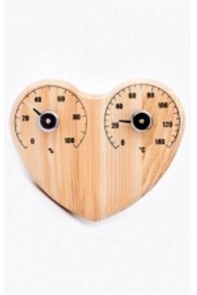 "Термометр для сауны СБО-3тг банная станция+гигрометр ""сердце"""