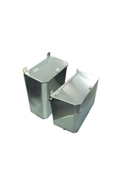 Выносной горизонтальный бак для бани - 85 л - AISI 430 - СМ