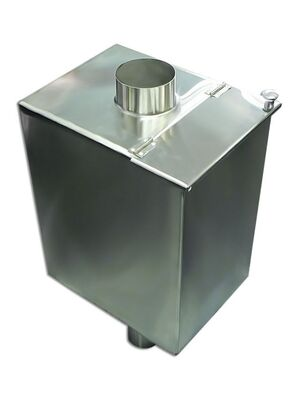 Бак для бани на трубе - 60 л - 110мм - AISI 304 - СМ