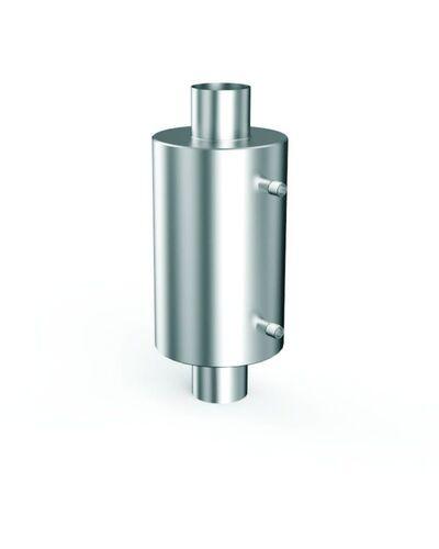 Теплообменник для бани на трубе - 115 -  AISI 304 - 550мм