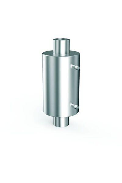 Теплообменник для бани на трубе - 130 -  AISI 304 - 550мм