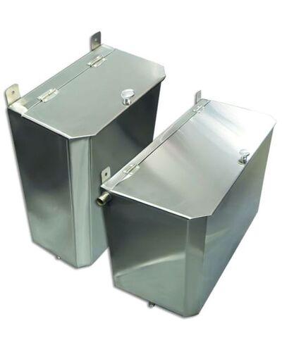 Выносной горизонтальный бак для бани - 85 л - AISI 304