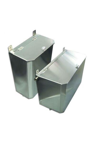 Выносной горизонтальный бак для бани - 95 л - AISI 304