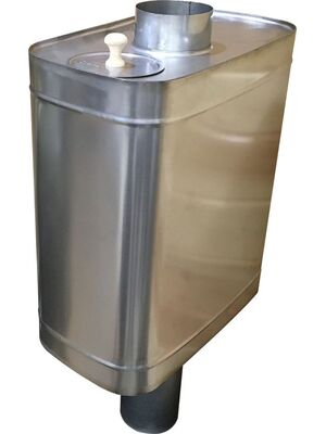 Бак для бани на трубе - 50л - AISI 409 - СМ