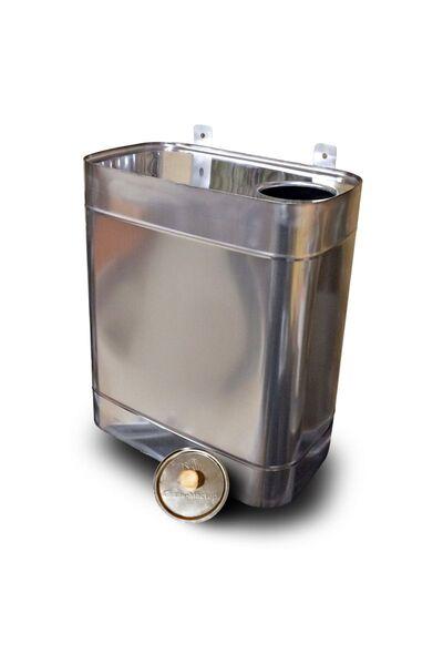 Выносной бак для бани овальный - 60л - AISI 409