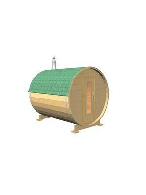 Баня-бочка Двоечка из сосны 2 метра под ключ