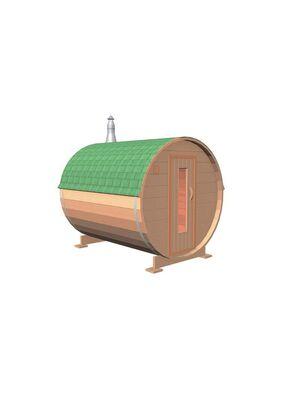 Баня-бочка Двоечка из кедра 2 метра под ключ