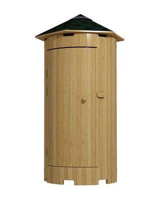 Туалет с конусной крышей