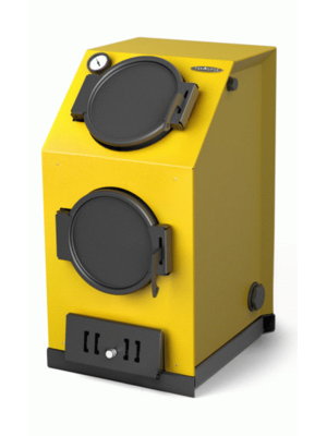 Твердотопливный котел Термофор Прагматик Автоматик, 20кВт, АРТ под ТЭН, желтый
