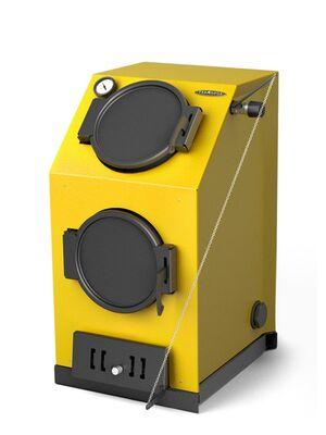 Твердотопливный котел Термофор Прагматик Электро, 25 кВт, АРТ, ТЭН 9 кВт, желтый