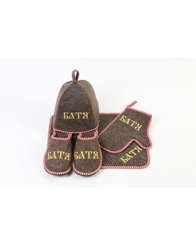 Набор для бани войлок с вышивкой мужской Батя