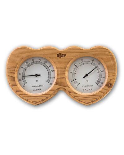 Термогигрометр F-205 ОЧКИ кедр сердце