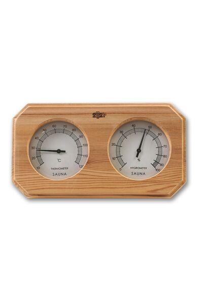Термогигрометр F-207 ОЧКИ кедр квадрат