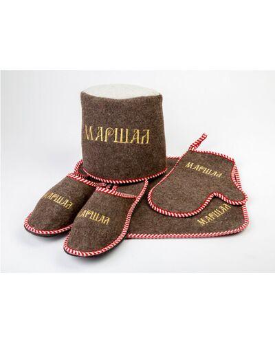 Набор для бани войлок с вышивкой мужской Маршал