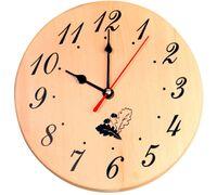 Часы д/предбанника деревянные
