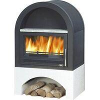 Печь-камин Grunt, с теплообменником - ABX