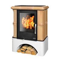 Керамическая печь-камин BAVARIA KI, с допуском воздуха, с теплообменником - ABX