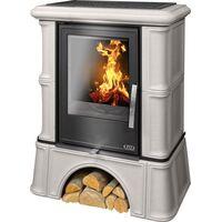 Керамическая печь-камин BAVARIA KI, с кафельным цоколем, с теплообменником, с допуском воздуха - ABX