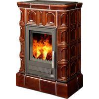 Керамическая печь-камин BRITANIA K, с кафельным цоколем, с теплообменником - ABX