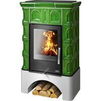 Керамическая печь-камин BRITANIA K, с теплообменником - ABX