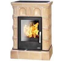 Керамическая печь-камин BRITANIA KI, с кафельным цоколем, с теплообменником, с допуском воздуха - ABX