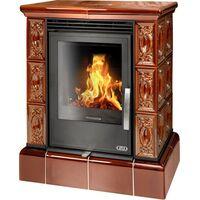 Керамическая печь-камин Helvetia KPI, с кафельным цоколем, с допуском воздуха - ABX