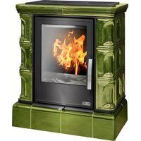 Керамическая печь-камин IBERIA KI, с кафельным цоколем, с теплообменником, с допуском воздуха - ABX