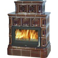 Керамическая печь-камин KARELIE, с кафельным цоколем - ABX