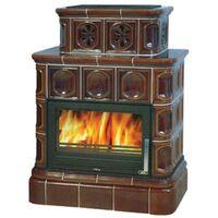 Керамическая печь-камин KARELIE, с кафельным цоколем, с теплообменником - ABX