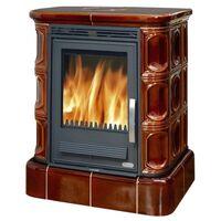 Керамическая печь-камин Marina KP, с кафельным цоколем, с теплообменником - ABX