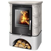 Керамическая печь-камин MARINA KPI, с теплообменником, с допуском воздуха - ABX