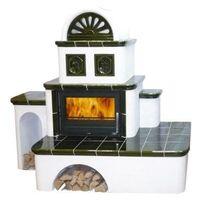 Керамическая печь-камин OXFORD, с теплообменником - ABX