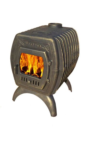 Чугунная отопительно-варочная печь Березка 400