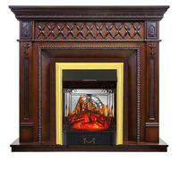 Каминокомплект Alexandria - махагон коричневый антик с очагом Majestic FX M Brass - Royal Flame