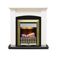 Каминокомплект Baltimore - Слоновая кость, черный с очагом Danville Antique Brass FB2 - Dimplex
