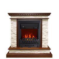 Каминокомплект Calgary - Дуб / Сланец белый с очагом Aspen Black - Royal Flame